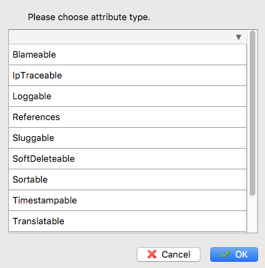 Choose an attribute